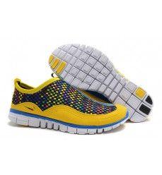 Woven Nike Free Rainbow Womens Citrine Yellow Treasure Blue 443815 101 [Lebron X Denim Cheap Running Shoes, Nike Shoes Cheap, Cheap Nike, Nike Free 3, Nike Free Runs, Tn Nike, Nike Air Max 2012, Yellow Nikes, Star Shoes
