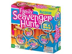 Are you ready to scavenge? Get the party started with Family Scavenger Hunt. Family Scavenger Hunt is a great way for the family to go on an adventure as soon as the box is opened!