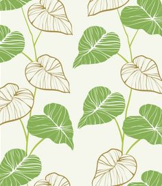 Hand Painted Green Leaves Background - http://www.dawnbrushes.com/hand-painted-green-leaves-background/