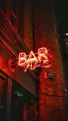 Neon sign photography ART sign red neon lights reflection urban architecture city photography art school art print the word art