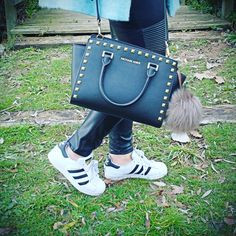 New post up! http://www.angycloset.com/2016/01/leather-and-adidas.html?m=0 #adidas #michaelkors