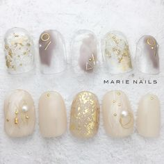 Opting for bright colours or intricate nail art isn't a must anymore. This year, nude nail designs are becoming a trend. Here are some nude nail designs. Dream Nails, Love Nails, Pretty Nails, Gel Nail Art, Cute Nail Art, Nail Polish, Japanese Nail Design, Japanese Nails, Asian Nails