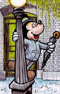 "Mickey as Gene Kelly ✦ ""Singing In The Rain"""