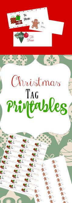 Tag Template Labels For Free By Ink Tree Press Xmas Templates