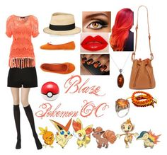 """""""Blaze (Pokemon trainer/OC)"""" by toy-chica2 ❤ liked on Polyvore featuring Wolford, River Island, Jane Norman, Eugenia Kim, Vintage Del Forte, Goldmajor, De L'Avion and Vallour"""