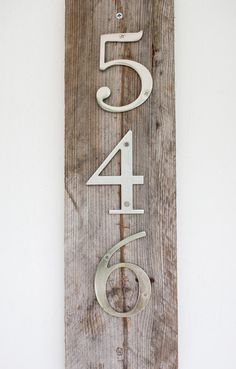 Modern Rustic House Numbers on Etsy, $29.95