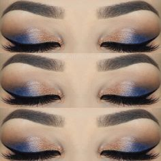 """@byjeannine) on Instagram: """"Pop of blue  Eyeshadow: 35O palette by @morphebrushes and """"Azure"""" by @anastasiabeverlyhills…"""""""