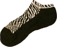 Zebra (Black w/Animal Print) K Bell Ladies Golf Sport Socks now at one of the top shops for ladies golf accessories #lorisgolfshoppe