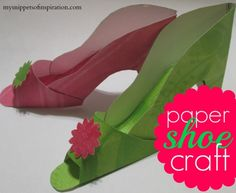 Here's an easy paper shoe craft that takes about 20 minutes to make! Super cute and easy and customizable for any season or gathering!