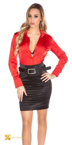 Tight Dresses, Sexy Dresses, Girl Fashion, Fashion Outfits, Womens Fashion, Satin Blouses, Sexy Skirt, Business Dresses, Hot Outfits