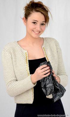 "J'adore ma veste ""Rue de Seine"" #tricot #ladroguerie"