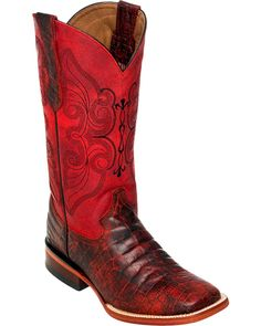Ferrini Women's Cherry Belly Print Cowgirl Boot Square Toe * Don't get left behind, see this great boots : Boots Mid Calf