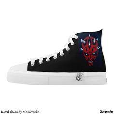 Devil shoes printed shoes