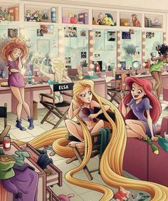 dressing room!! I love this. ((but elsa's thong is a little awkward lol))