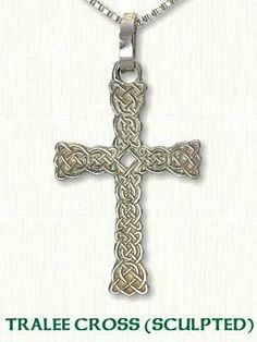 Celtic Tralee Knot Cross - Sculpted Edges - Available in 3 Sizes and All Metals by RARUCOM on Etsy
