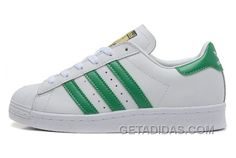 Génial Adidas Superstar DLX Or Logo Blanche Rouge Chaussures