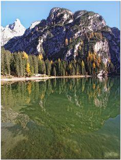 Lago di Braies, Prags Dolomites in South Tyrol, Italy