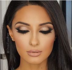 Smokey Eye For Brown Eyes Neutral Smokey Eye Natural Prom Makeup For Brown Eyes Bridesmaid Makeup Natural Simple Smokey Eye Makeup For Big Eyes Full Face Makeup Black Ma. Natural Prom Makeup, Wedding Eye Makeup, Wedding Makeup For Brown Eyes, Wedding Nails, Hair Wedding, Wedding Smokey Eye, Wedding Night, Wedding Makeup For Brunettes, Makeup For Prom