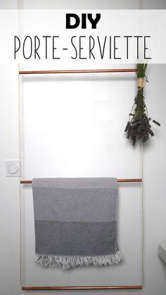 De la cordelette et un tube de cuivre et voilà un joli porte serviette !