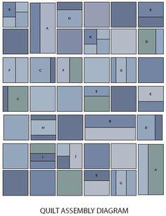 Blue Jeans Quilt layout.