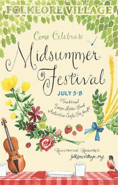 Midsummer Festival Event Ad  Such a pretty poster