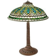 Tiffany Studios Gentian Lamp | From a unique collection of antique and modern table-lamps at https://www.1stdibs.com/furniture/lighting/table-lamps/