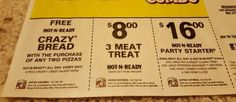 LITTLE CAESARS Coupons DEALS Savings PIZZA Offers HOT n READY 3 Meat TREAT Wow!!