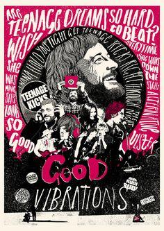 Good Vibrations Film Poster - Peter Strain Illustration