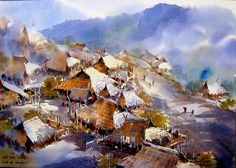 Watercolor Paintings By Thailand Artist Thanakorn Chaijinda