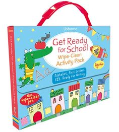 """Get ready for school wipe-clean activity pack"" at Usborne Children's Books Book Activities, Toddler Activities, Activity Books, Clean Book, Toddler Books, Childrens Books, Alphabet Book, School Readiness, Kids Learning"