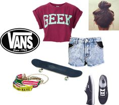 """Skater Girl.3"" by minnie-1-1 ❤ liked on Polyvore"