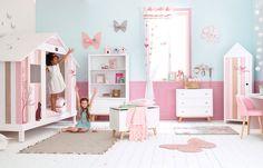 Colorful childhood (see more) #inspiration #idea #kids #room #pink #blue #bedroom #colors #pastel #france #maisons #du #monde
