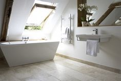 Are you planning to remodel your Bathroom with Attic Design ? Look at our Beautiful Bathroom Attic Design Ideas & Pictures for more inspiration. Small Attic Bathroom, Loft Bathroom, Bathroom Ideas, Attic Renovation, Attic Remodel, Attic Spaces, Small Spaces, Shower Cabin, Small Attics