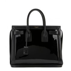 Saint Laurent Sac De Jour Small Patent-Leather Tote found on Polyvore