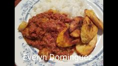 Arroz Blanco ,Corn Beef y Amarillos Una Comida Tradicional de Puerto Rico