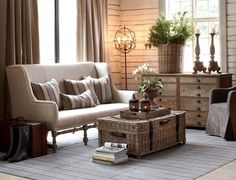 ikea byholma chest... But I love the Settee for my bedroom! :)