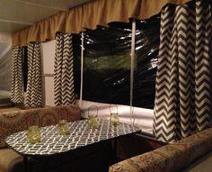 I love the black and Brown!    Pop-Up Camper Make-Over