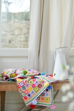 """Heart"": gypsy granny square - lovely blanket by Giuliana @ di cuore"
