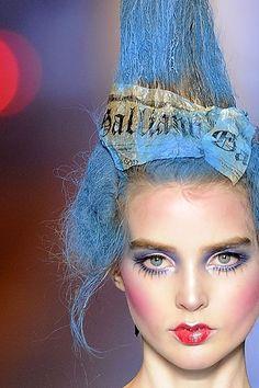 Fashion Editorial Makeup Avant Garde John Galliano 52 New Ideas Eye Makeup, Runway Makeup, Makeup Art, Beauty Makeup, Hair Makeup, Hair Beauty, Makeup Geek, John Galliano, Ali Michael