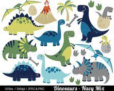 Dinosaur Clipart Dinosaurs Clip Art Tyrannosaurus Rex | Etsy