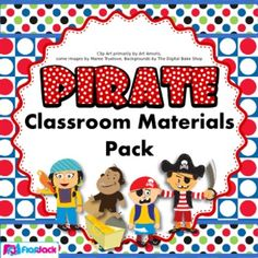 Ahoy, class-mateys! Is it a pirate's life for you next year? Included in this pack are many materials to thoroughly prepare your classroom with the pirate theme. $