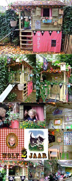 en voor de dochter, een speelhuisje in de tuin. Ooit...