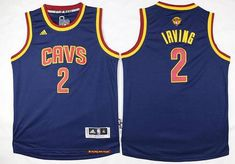 8adce89c9 Youth Cleveland Cavaliers  2 Kyrie Irving Navy Blue 2016 The NBA Finals  Patch Jersey Nfl