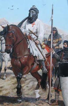 La Pintura y la Guerra. Medieval Knight, Medieval Armor, Medieval Fantasy, Armadura Medieval, Crusader Knight, Knight Armor, Landsknecht, Medieval Times, Chivalry