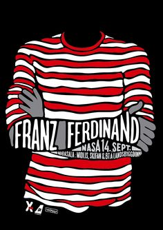 A poster for the Franz Ferdinand concert in NASA in Reykjavik Iceland.