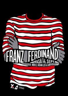 A poster for the Franz Ferdinand concert in NASA in Reykjavik Iceland.