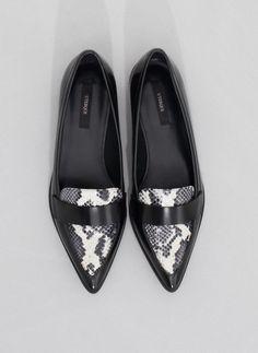 Snakeskin effect slipper - See all - FOOTWEAR - Uterqüe United Kingdom
