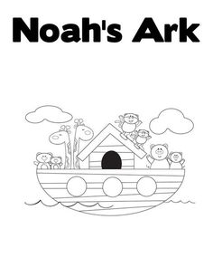 noahs ark and more customizable text coloring sheet