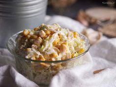 Pyszna, szybka i bardzo łatwa w przygotowaniu surówka z pora z kukurydzą. Doskonała do każdego dania głównego - zapraszam na bloga!