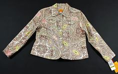 Ruby Rd Jacket Blazer Womens Size Petite 14P Paisley Print Button Down Front